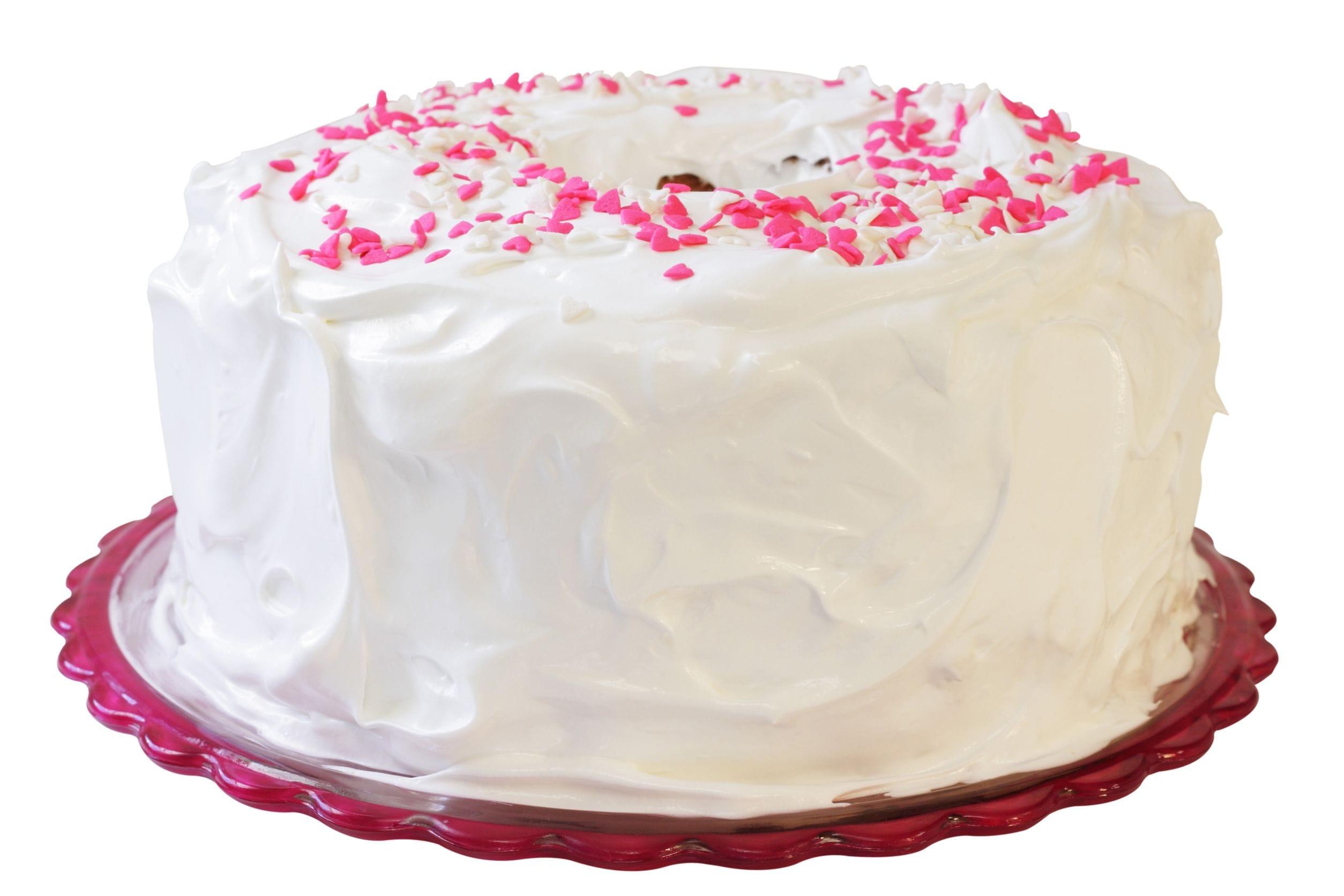 Icing A Angel Food Cake