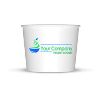 Frozen Yogurt Cups Custom Cup Sample