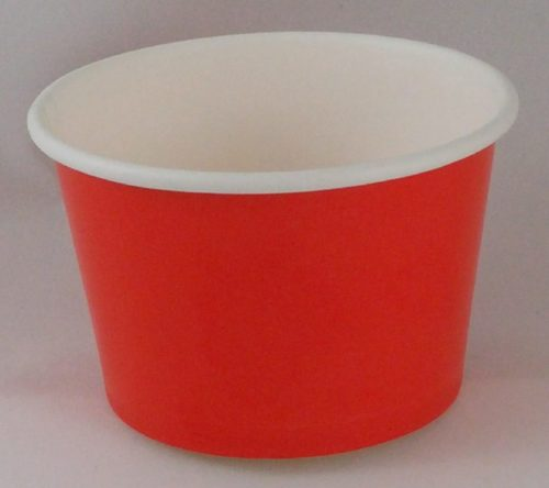 Yogurt Cup 8oz Red