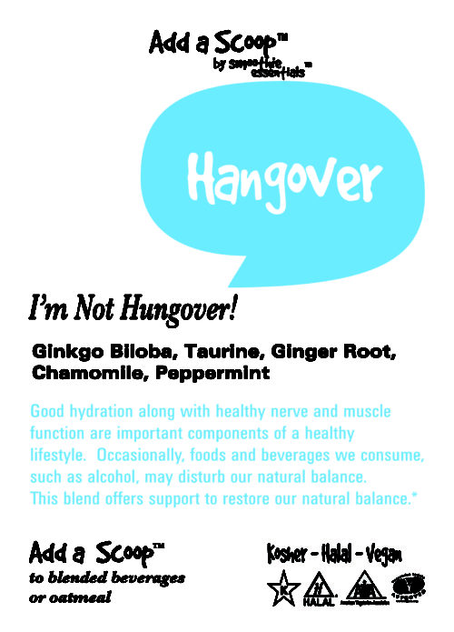 Smoothie Booster Hangover