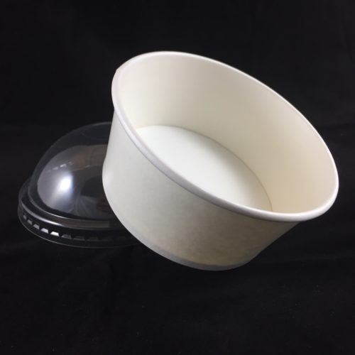Frozen Yogurt Cup White with Dome Lid