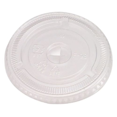 Drink or Smoothie Cup Plastic Flat Lid