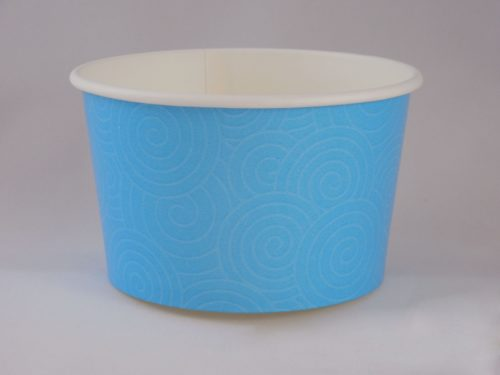Frozen Yogurt Blue Swirl Cup 14oz