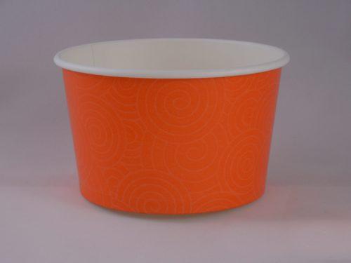 Frozen Yogurt Orange Swirl Cup 14oz