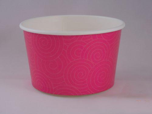 Frozen Yogurt Pink Swirl Cup 14oz