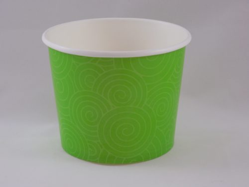 Frozen Yogurt Cups 16 oz Green Swirl
