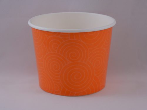 Frozen Yogurt Cups 16 oz Orange Swirl