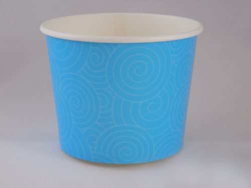Frozen Yogurt Blue Swirl Cup 16oz