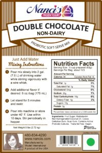 Base Mix Vegan Double Chocolate Label