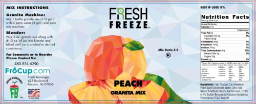 Granita Mix Peach Label