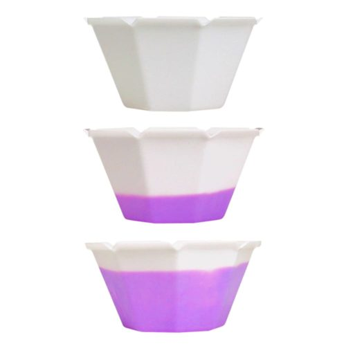Gelato Cup Petali Color Changing White
