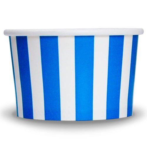 Yogurt Cups Blue Striped 4oz
