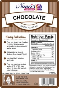 Base Mix Chocolate Label