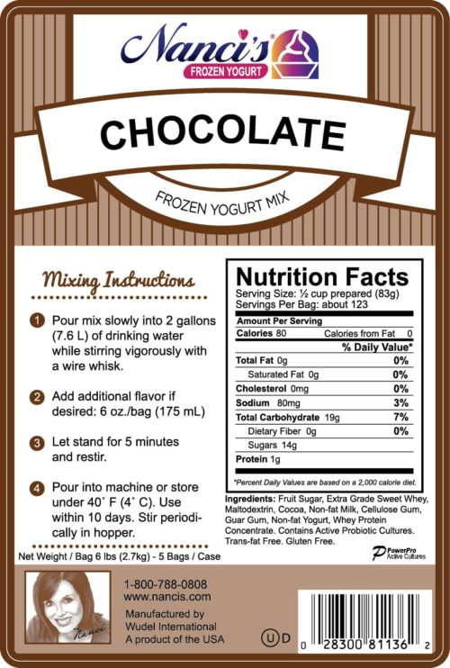 Base Mix Chocolate Label