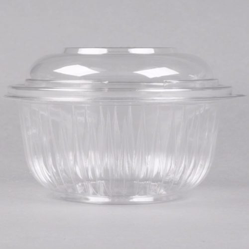 Clear Plastic Bowl with Lid 16oz