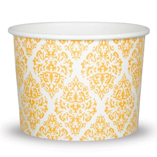 Yogurt Cups Elegant Gold 12oz