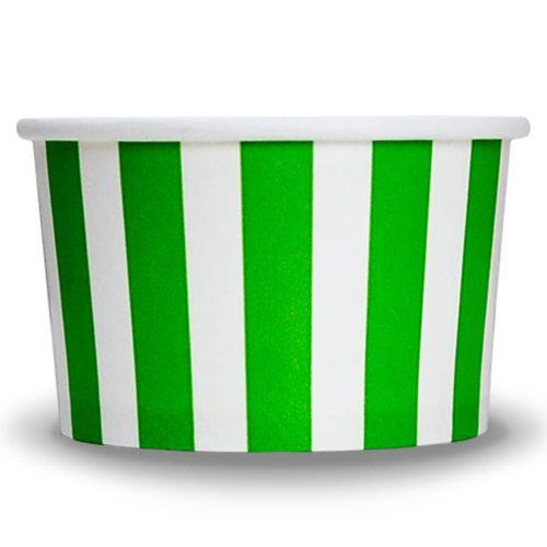 Yogurt Cups Green Striped 4oz
