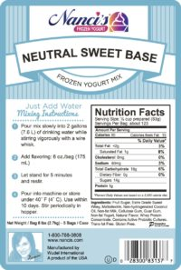 Base Mix Neutral Sweet Base Label