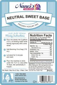 Base Mix Neutral Sweet Base Label