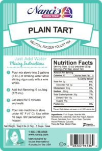 Base Mix Plain Tart Label