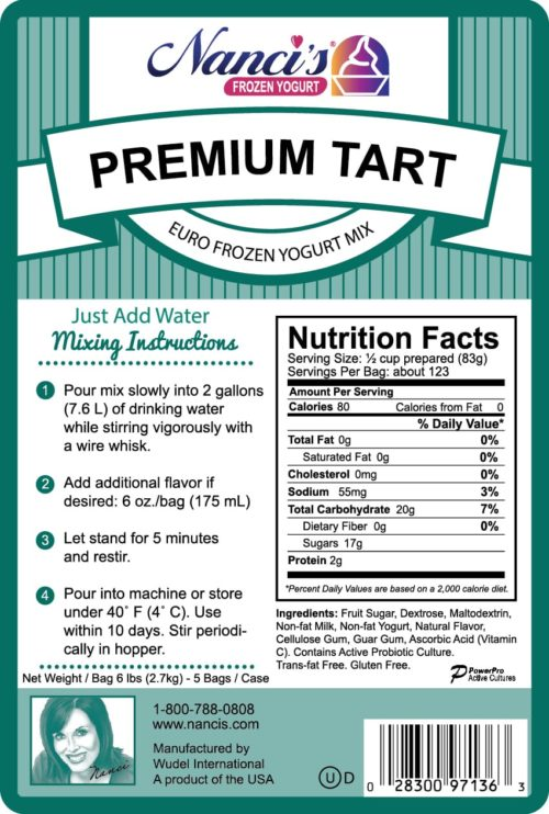 Base Mix Premium Tart Label