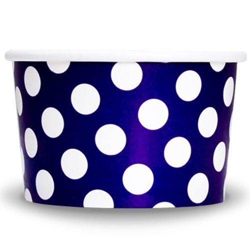 Yogurt Cups Purple Polka Dot 4oz