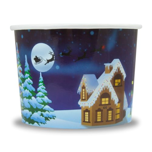 Yogurt Cup Santa Clause 12oz