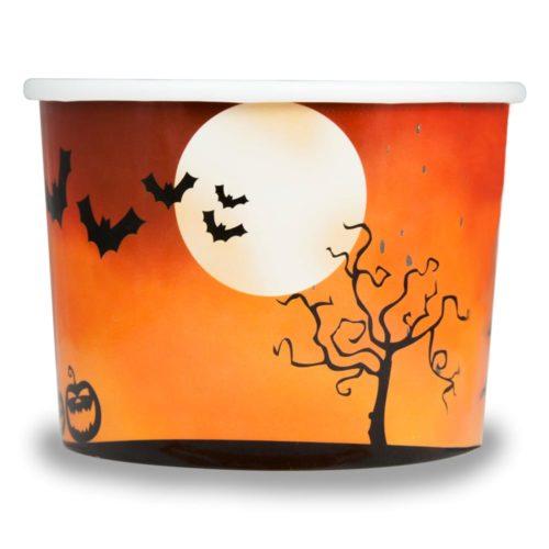 Yogurt Cup Spooky Halloween 12oz