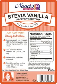 Base Mix Stevia Vanilla Label