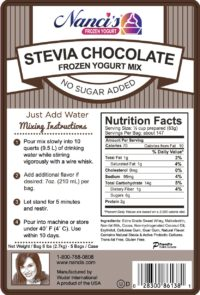 Base Mix Stevia Chocolate Label