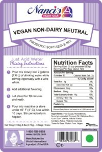 Base Mix Vegan Non-Dairy Neutral Vanilla Label