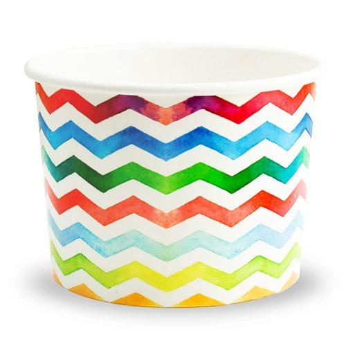 Yogurt Cup Watercolor Wave 12oz