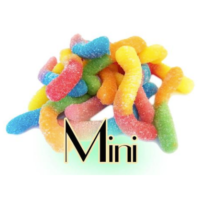 Topping Gummi Worms (Sour, Mini)