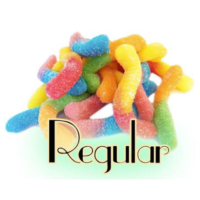 Topping Gummi Worms (Sour, Regular)